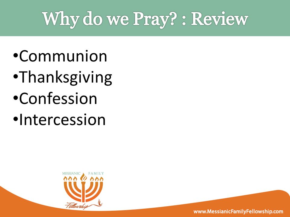 Communion Thanksgiving Confession Intercession