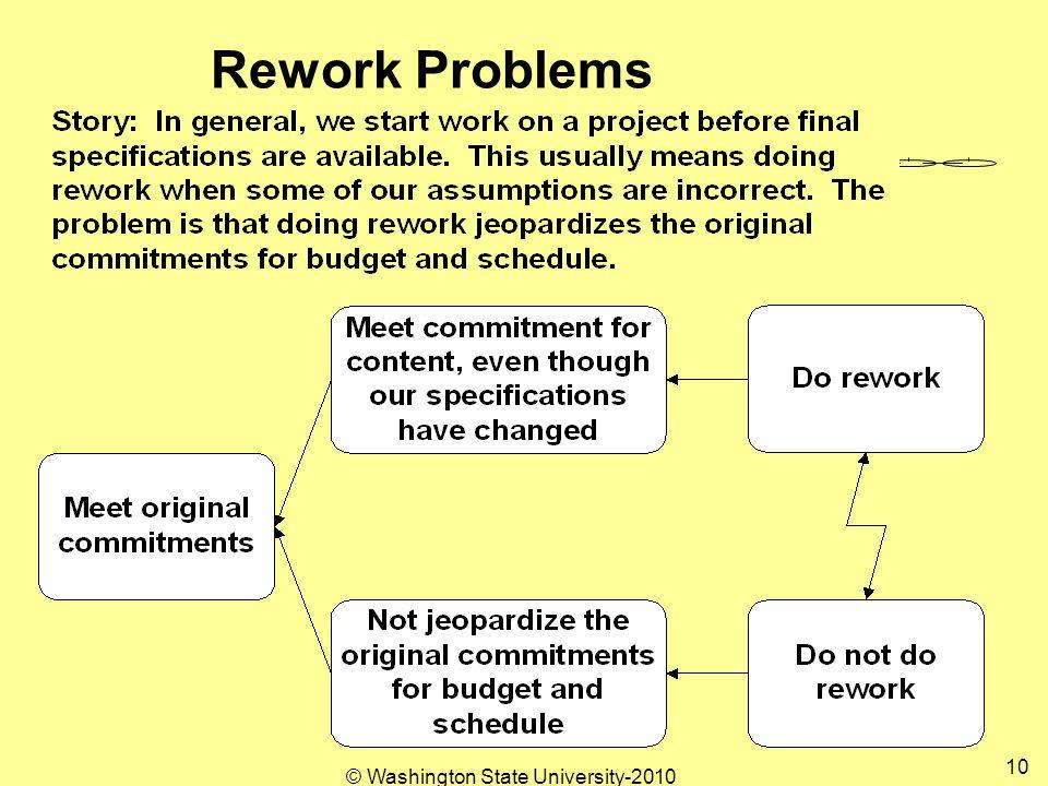 Rework Problems 10 © Washington State University-2010
