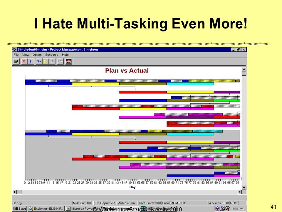 I Hate Multi-Tasking Even More! 41 © Washington State University-2010