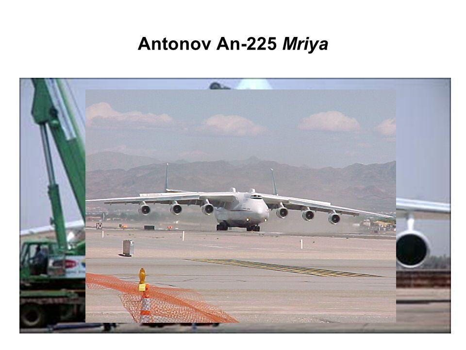 Antonov An-225 Mriya The Antonov An-225 Mriya is a strategic airlift cargo aircraft, designed by the Antonov Design Bureau in the 1980s.