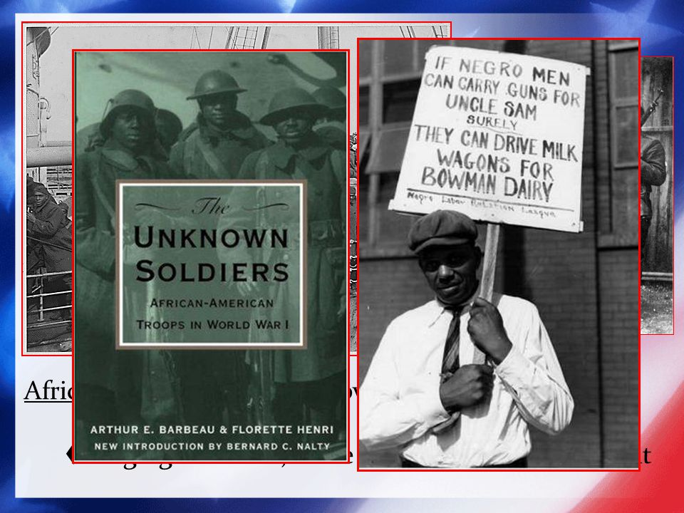 African American Troops - over 400,000 served, mostly non-combat.