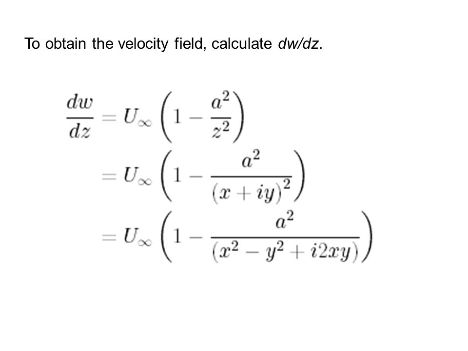 Velocity components from w