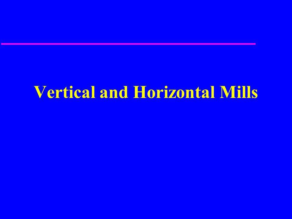 Misc.Horizontal Milling setups u 1. straddle milling u 2.