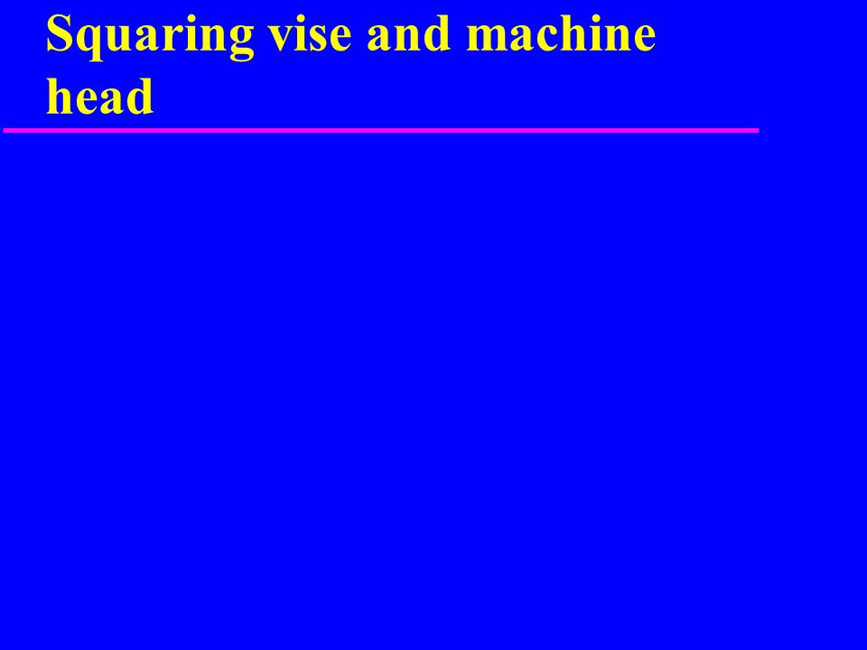 Squaring vise and machine head