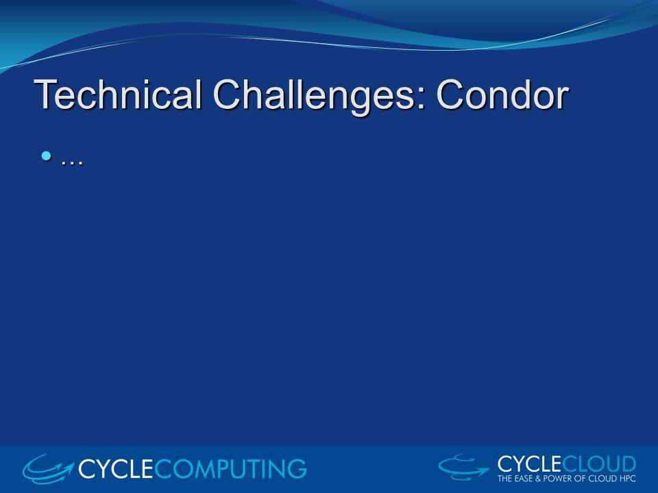 Technical Challenges: Condor …