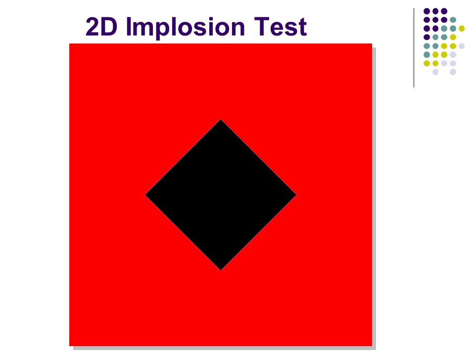 2D Implosion Test