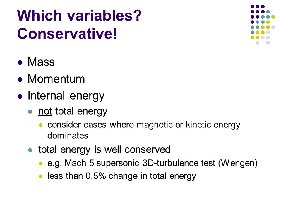 Which variables. Conservative.