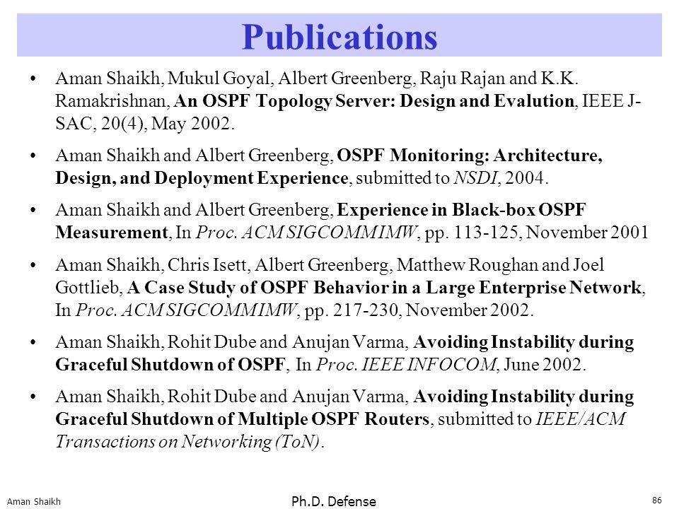 86 Aman Shaikh Ph.D.