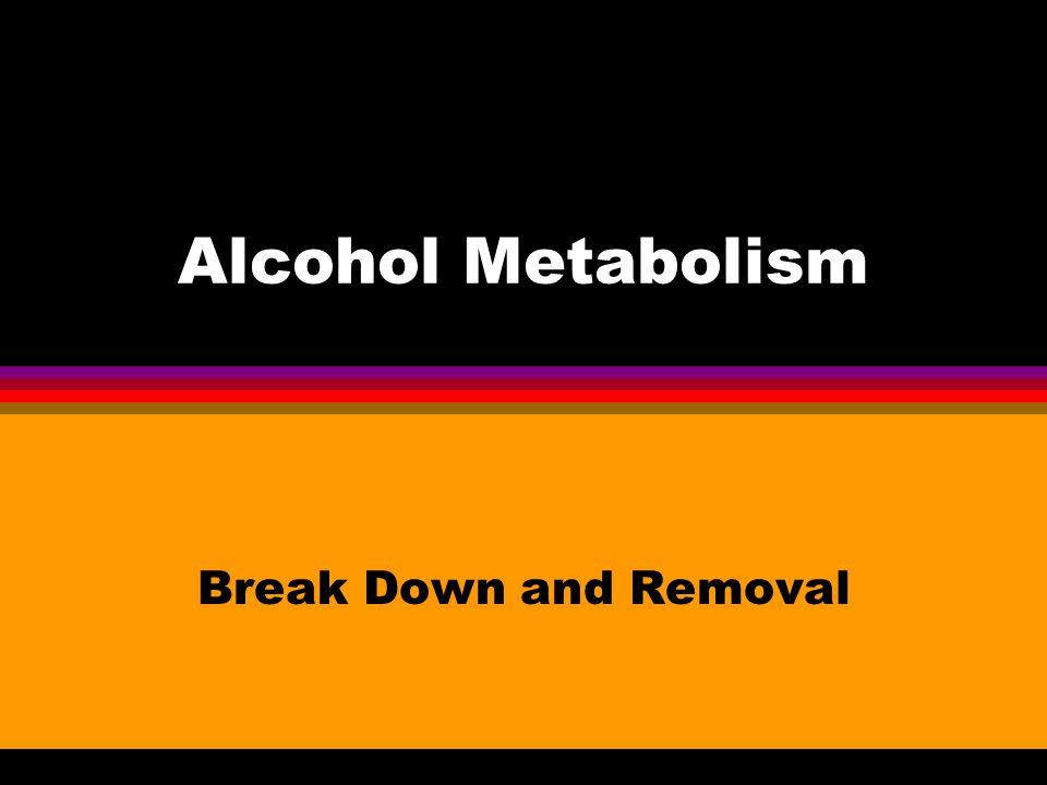 Small Amounts Unmetabolized (10%) l Sweat l Urine l Breath
