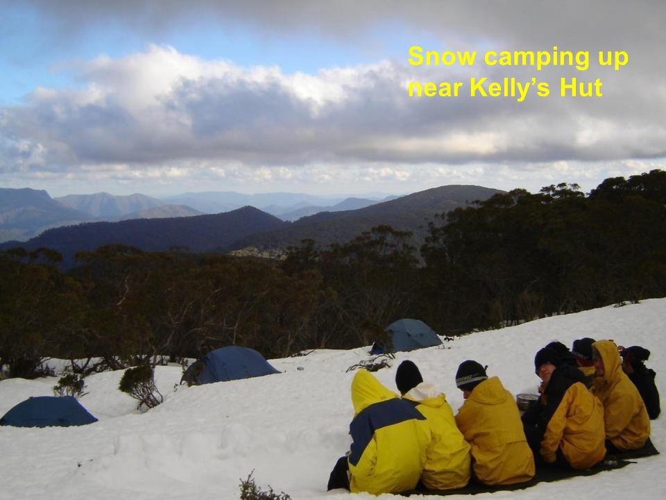 Snow camping up near Kelly's Hut