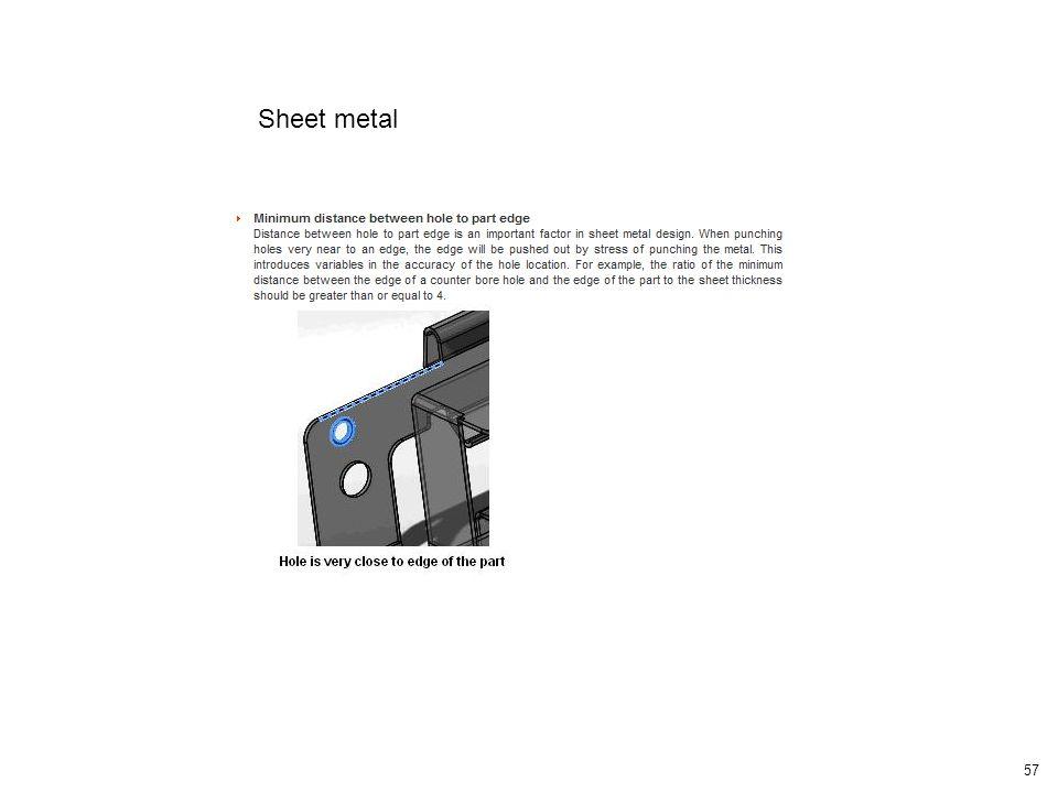 58 Sheet metal