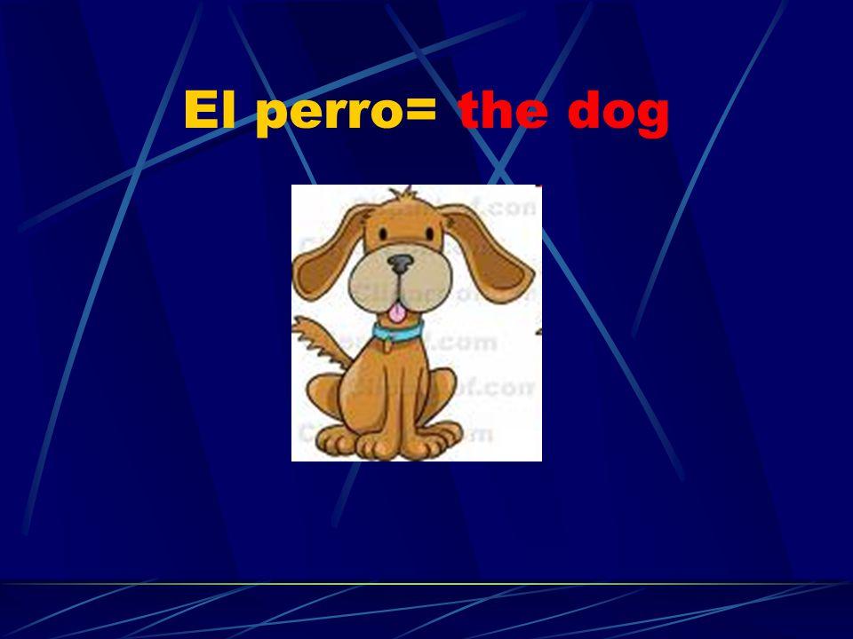 El perro= the dog
