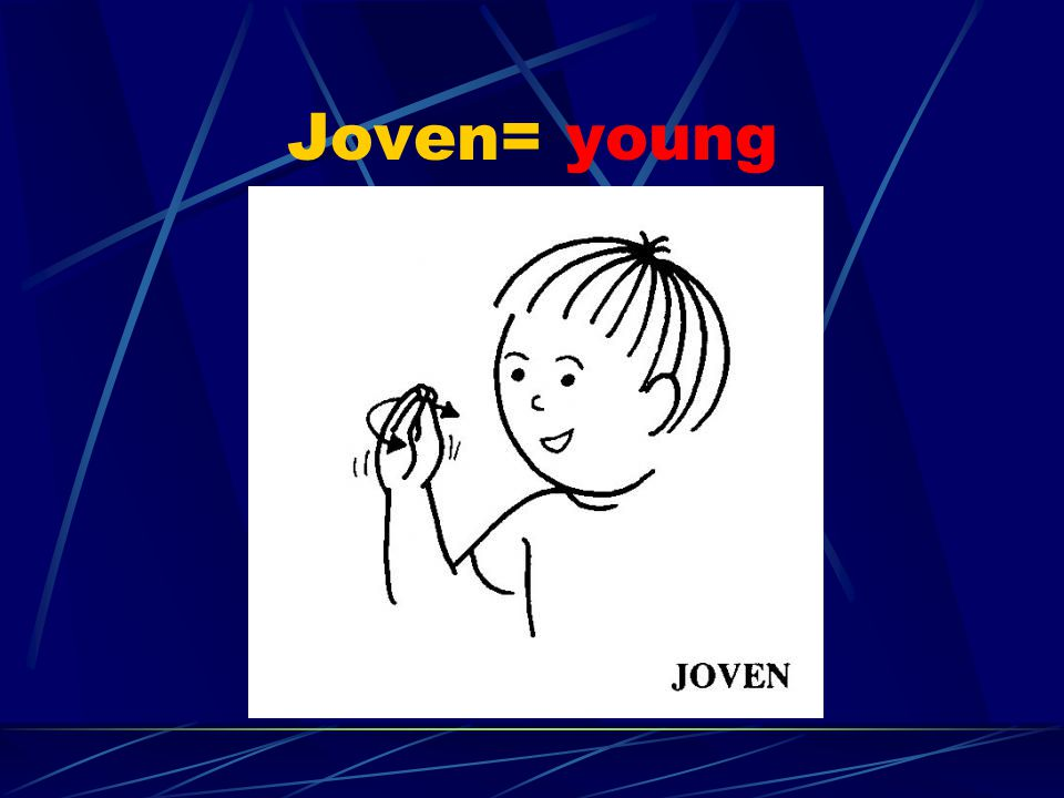 Joven= young Young