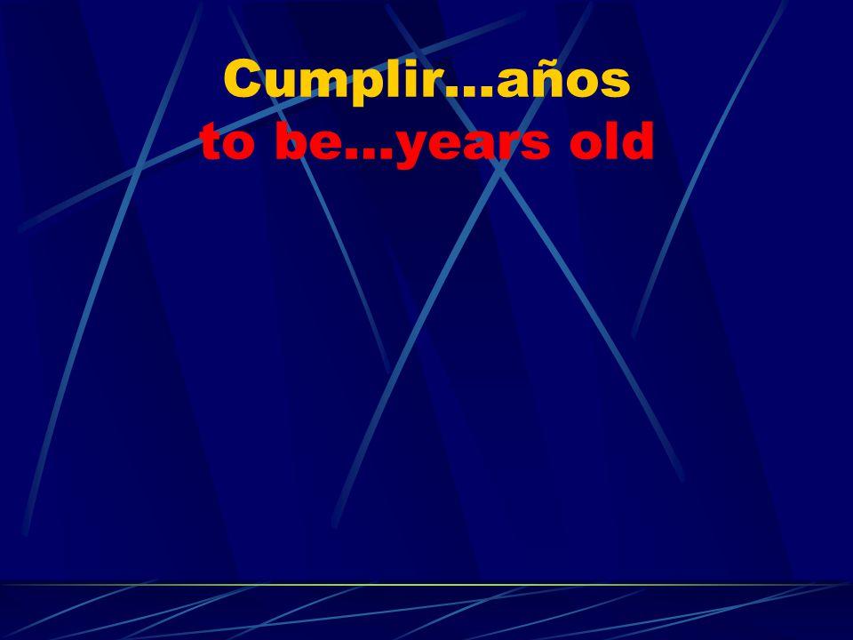 Cumplir…años to be…years old