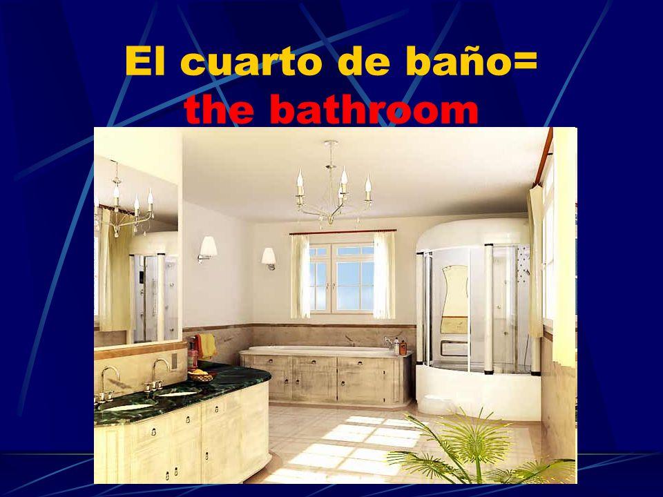 El cuarto de baño= the bathroom