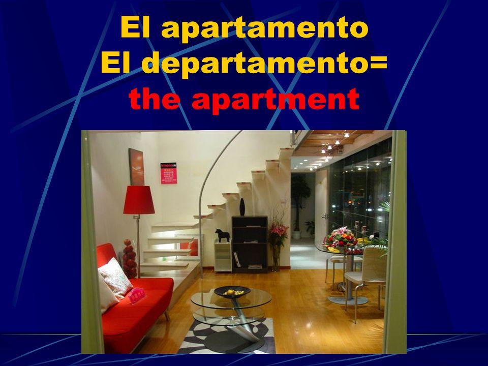 El apartamento El departamento= the apartment