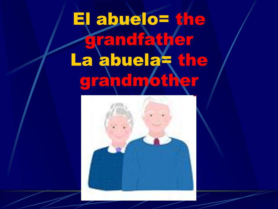 El nieto/ La nieta The grandson/ the granddaughter