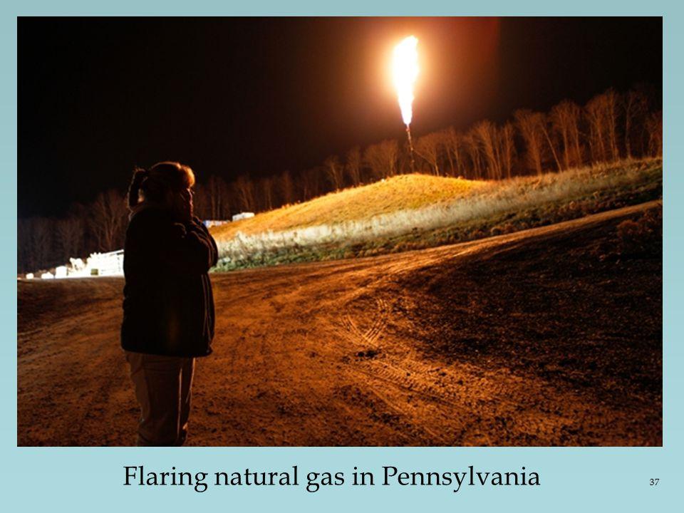 Flaring natural gas in Pennsylvania 37