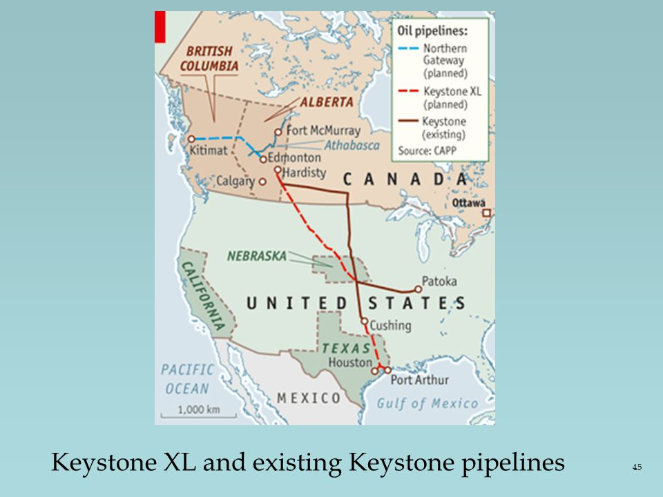 Keystone XL and existing Keystone pipelines 45