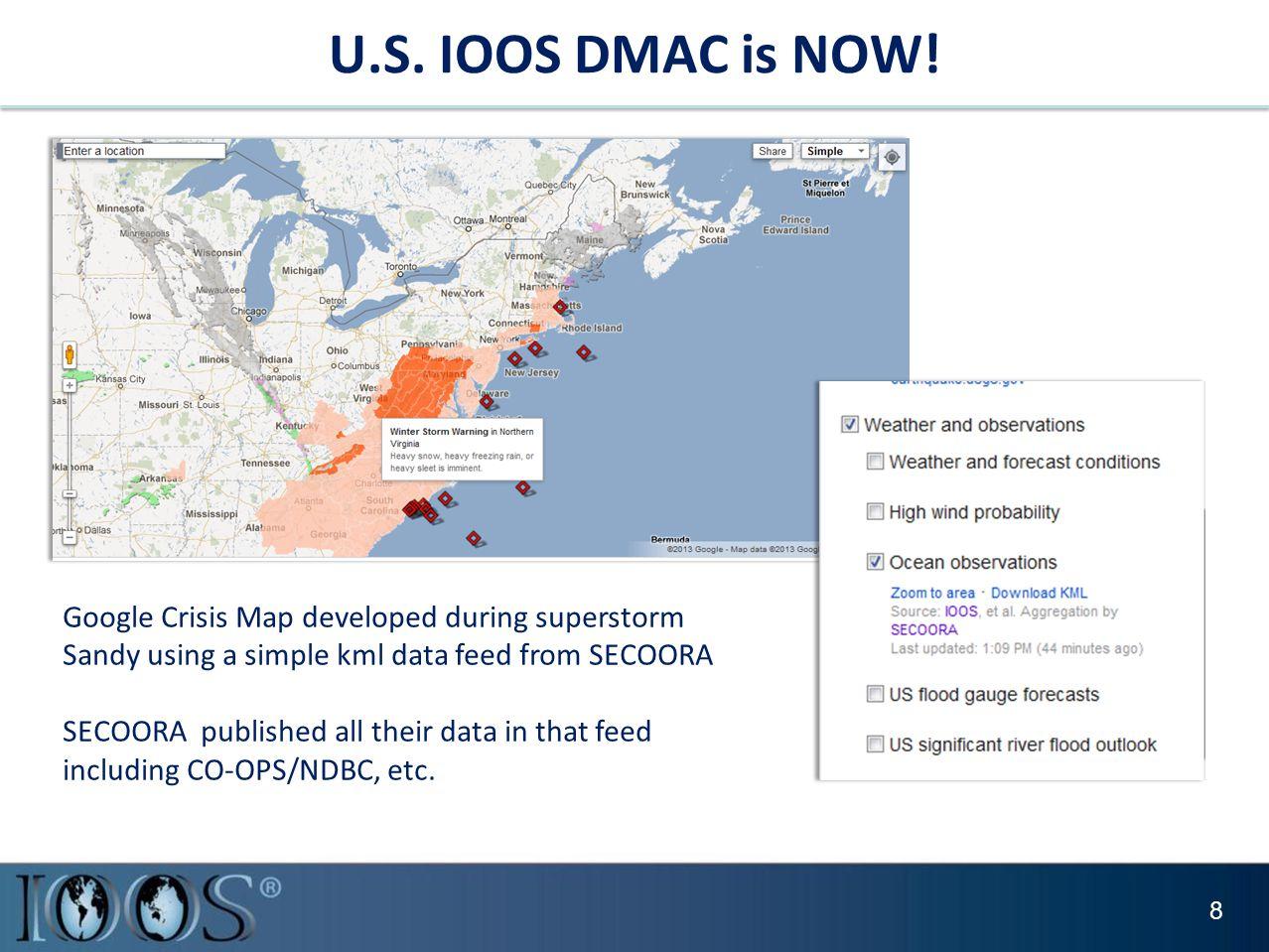 U.S. IOOS DMAC is NOW.