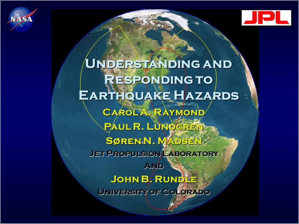 Understanding and Responding to Earthquake Hazards Carol A.
