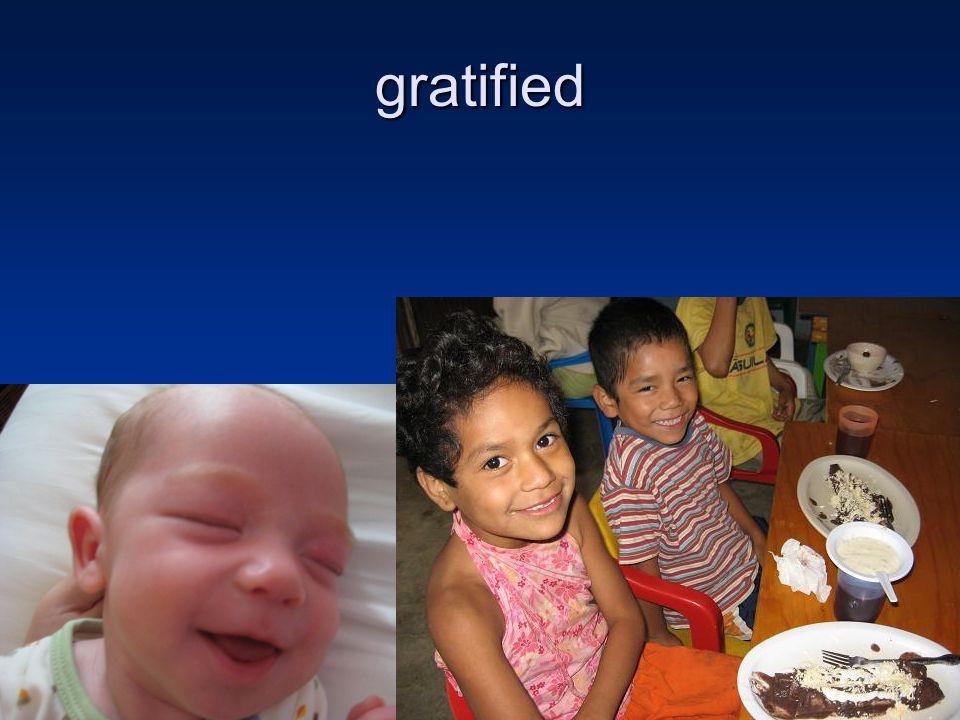 gratified