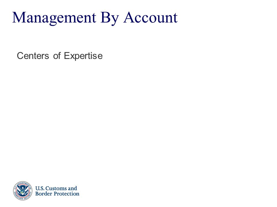 Management By Account Centers of Expertise