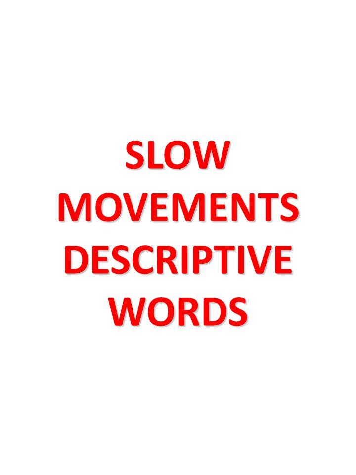 SLOW MOVEMENTS DESCRIPTIVE WORDS