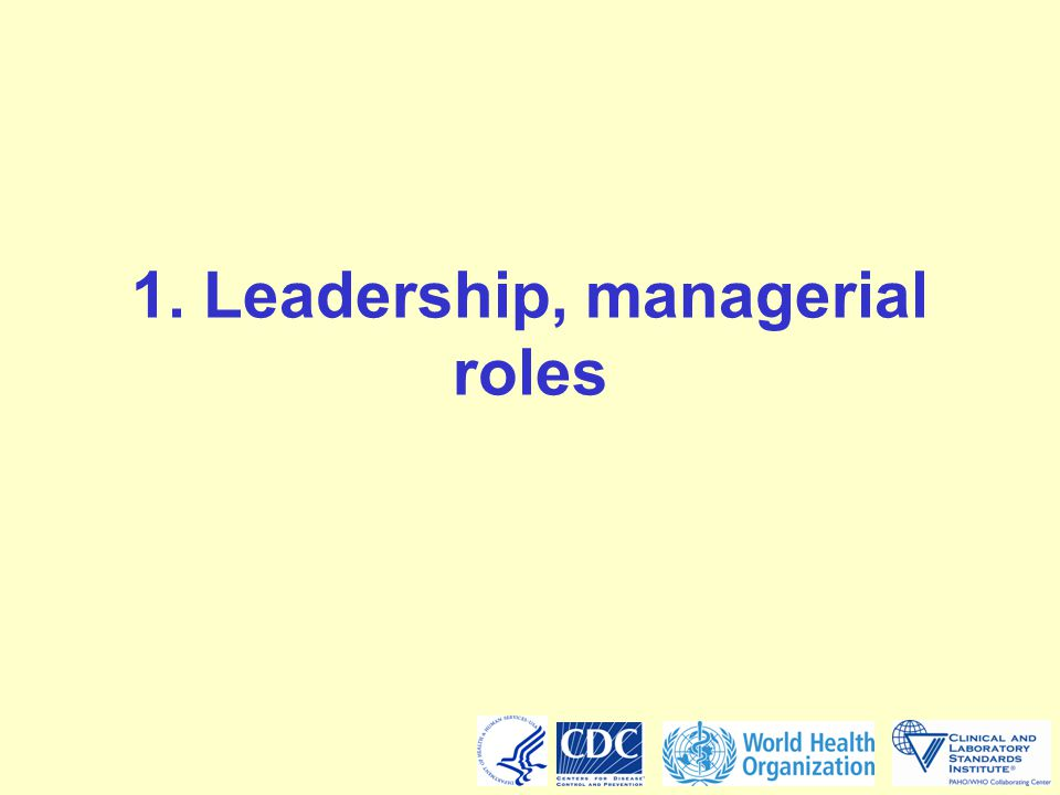1. Leadership, managerial roles