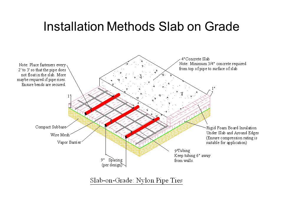 Installation Methods Slab on Grade