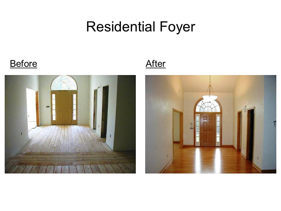 Residential Foyer AfterBefore