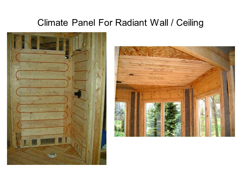Climate Panel For Radiant Wall / Ceiling
