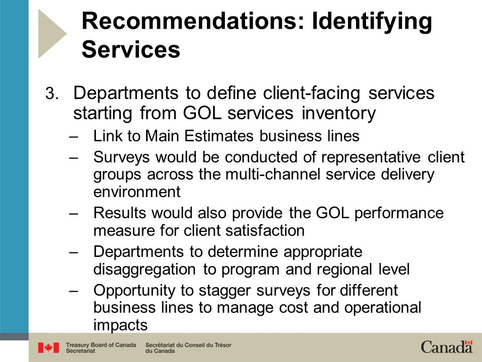 Recommendations: Identifying Services 3.