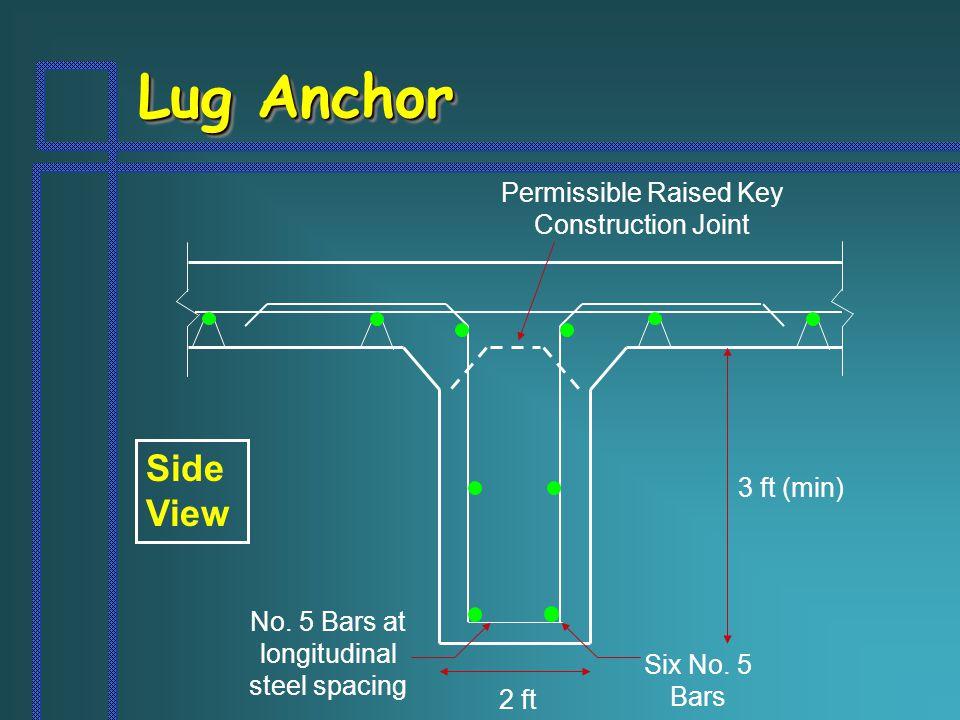 Lug Anchor Side View Six No. 5 Bars No.