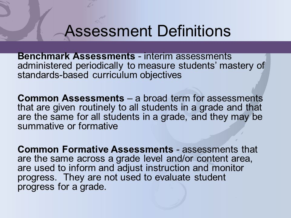 Additional Points to Consider Assessment Infrastructure Structure for Data Analysis Available Technology