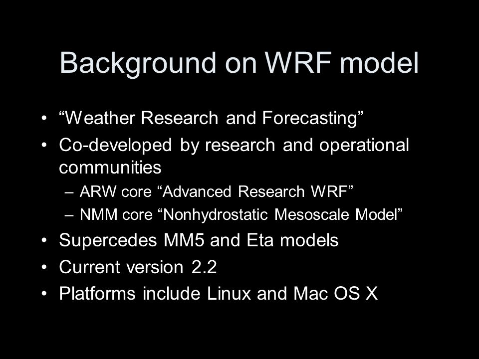 WRF for real-data run Hurricane Felix (2007) [This example uses data that will not remain online]