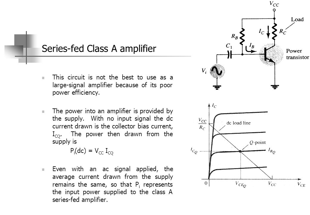 5.2 Class B amplifier operation As the transistor conducts current for only one-half of the signal cycle, it is necessary to use two transistors and have each conduct on opposite half-cycles to obtain output for the full cycle of signal.