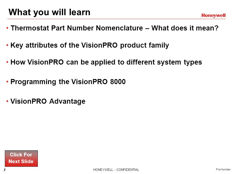 Thermostat Part Number Nomenclature What does it mean? Click For Next Slide