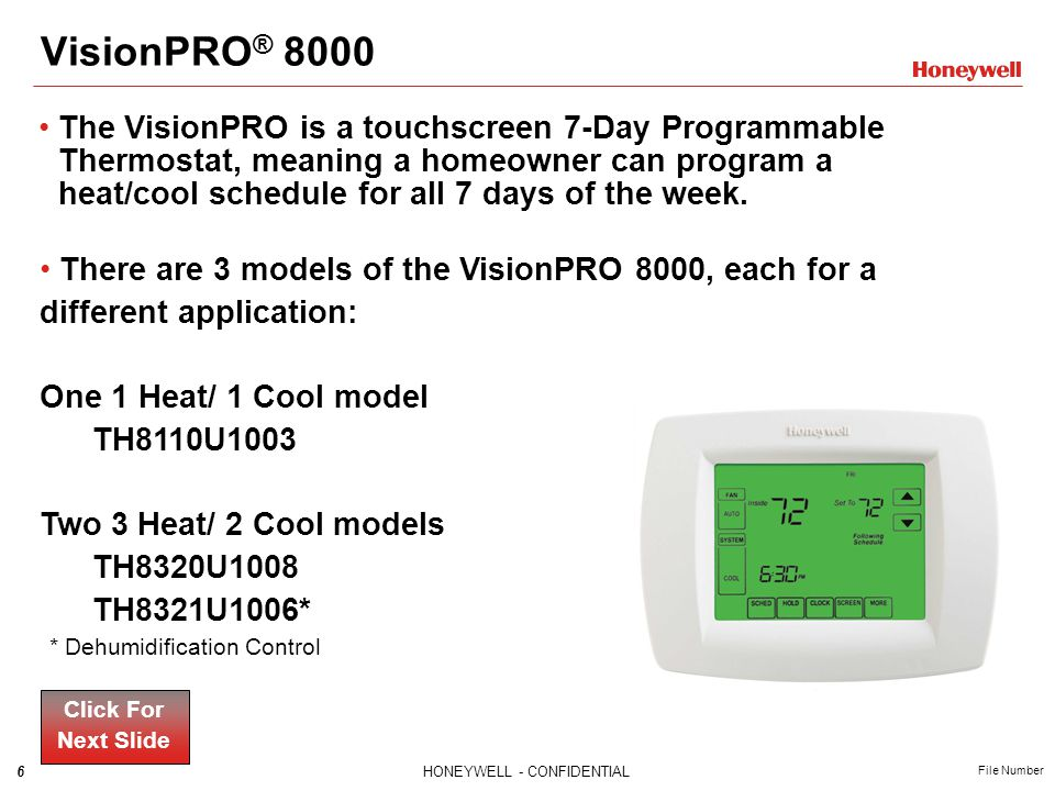 VisionPRO ® 8000 Key Features Click For Next Slide