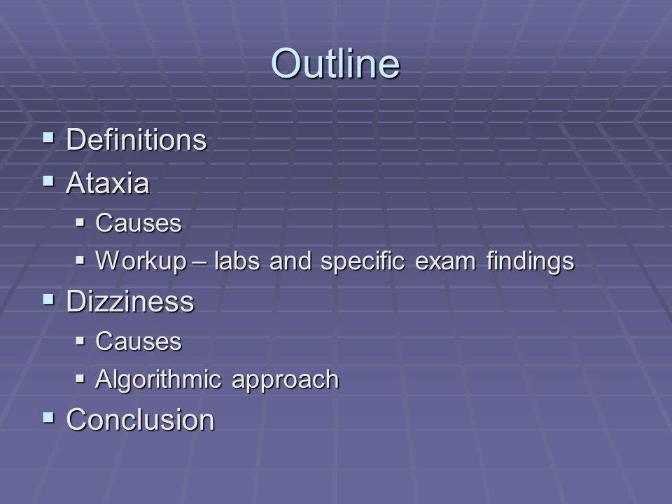 Cerebellar Exam  Gait, Speech, Coordination i.e.