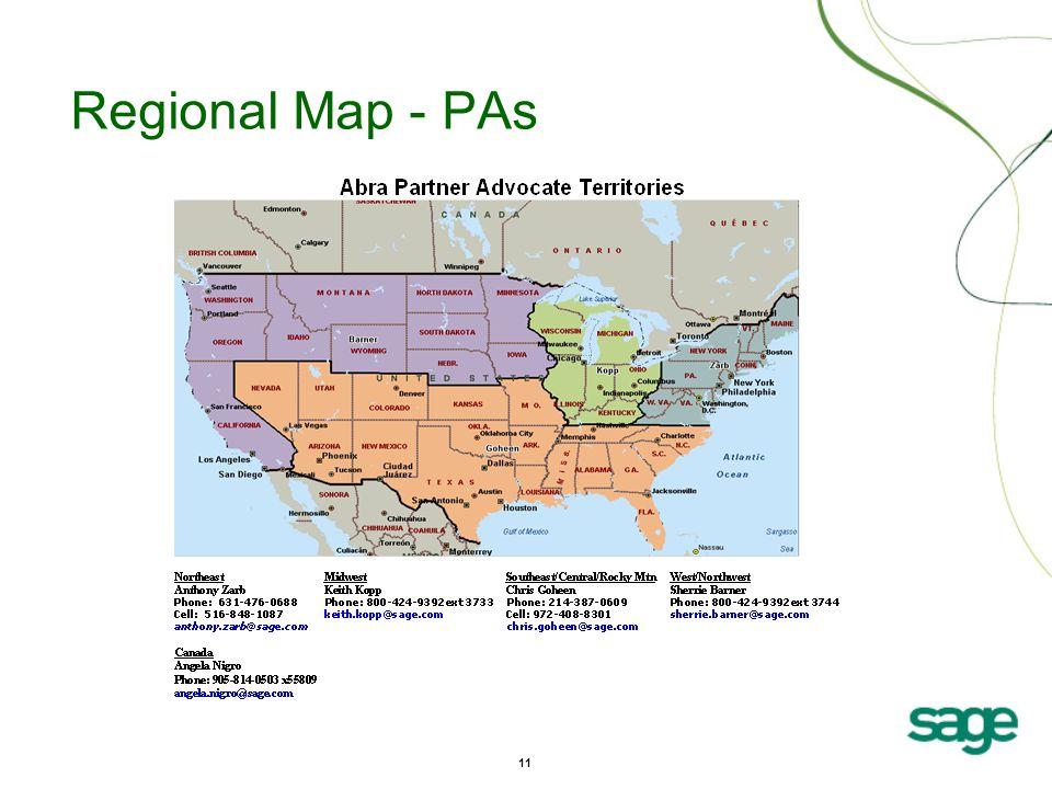 11 Regional Map - PAs