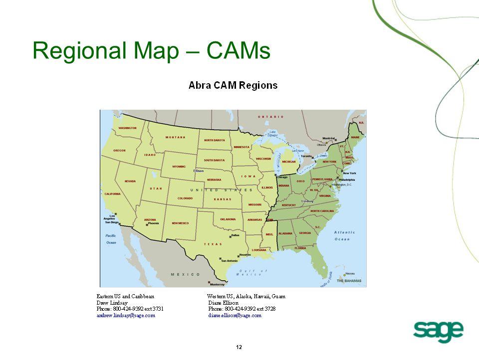12 Regional Map – CAMs