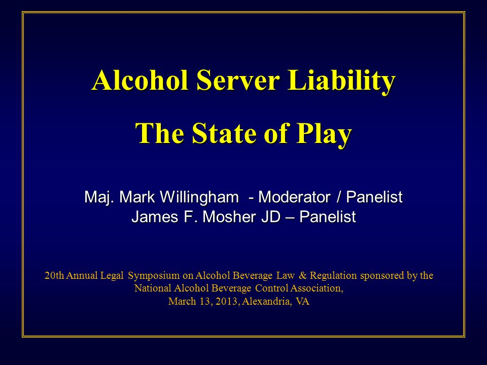 What is Dram Shop Liability.