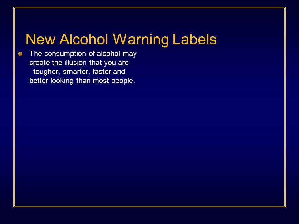 Each state in the nation has made a public policy decision to license alcoholic beverages Among other issues, beverage alcohol, when used as directed, presents a risk to the drinker, those the drinker may harm, and society.