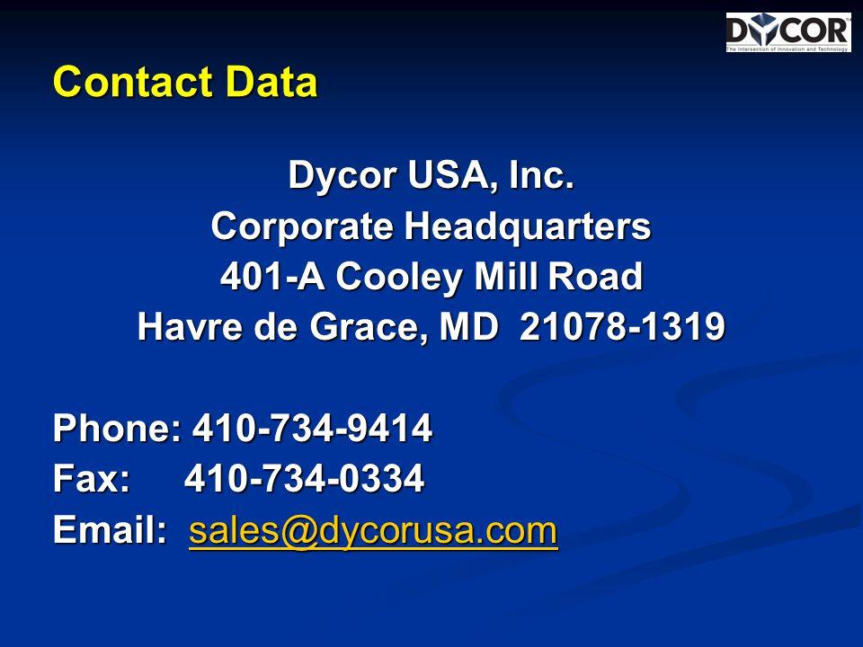 Contact Data Dycor USA, Inc.