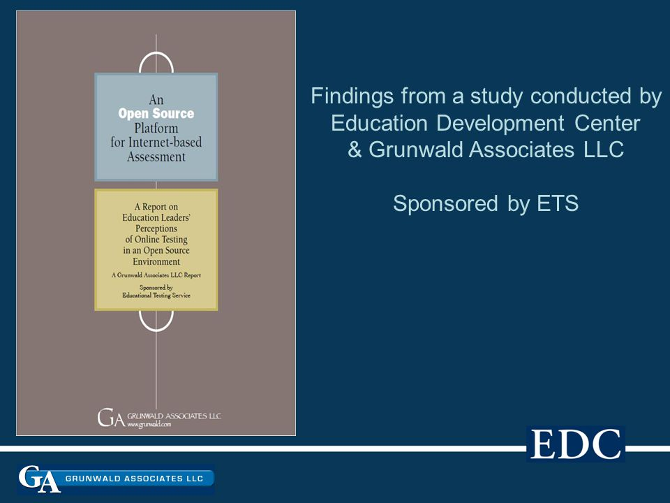Findings from a study conducted by Education Development Center & Grunwald Associates LLC Sponsored by ETS