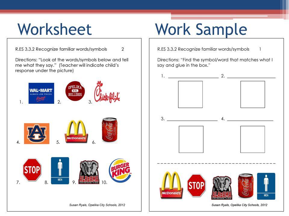 Worksheet Work Sample