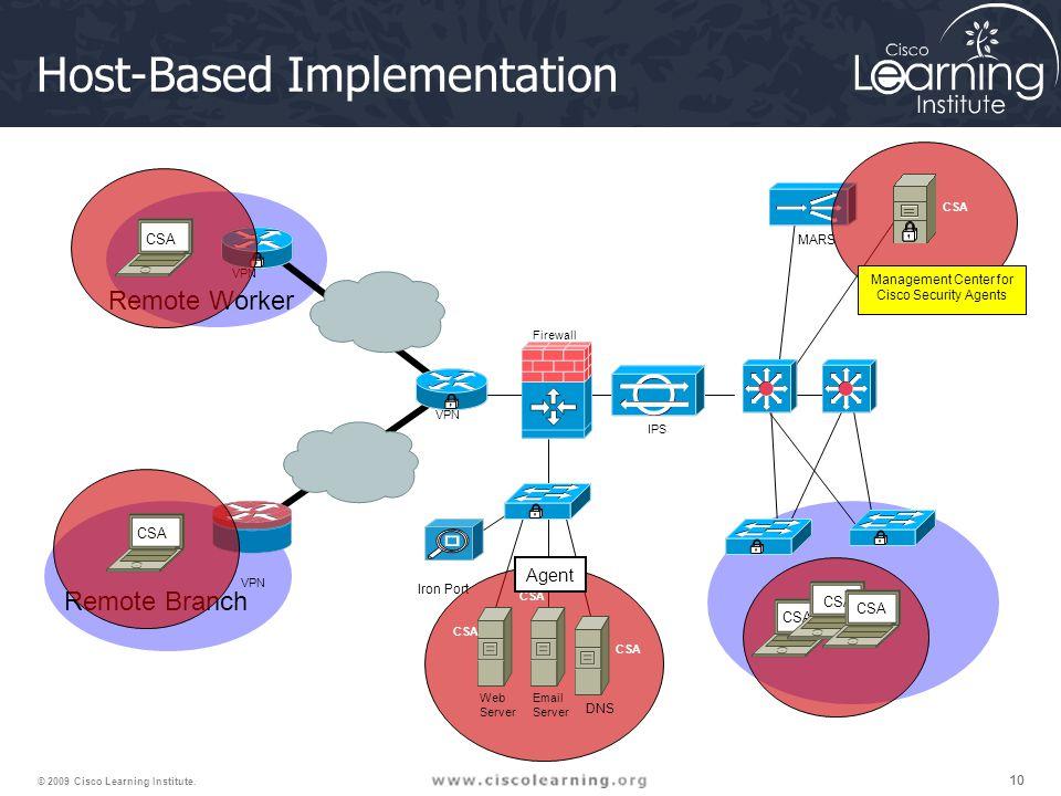 10 © 2009 Cisco Learning Institute.