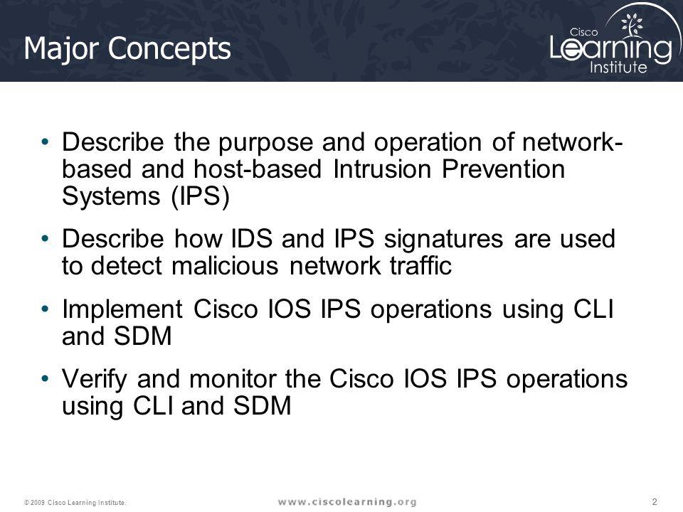 222 © 2009 Cisco Learning Institute.
