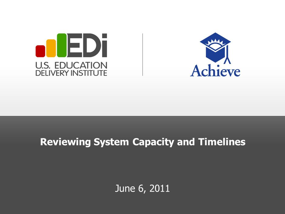 Reviewing System Capacity and Timelines June 6, 2011